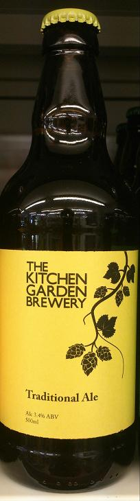 Traditional Ale The Kitchen Gardens Flagship beer with a light and refreshing ale with floral notes and delicious malty indertones.